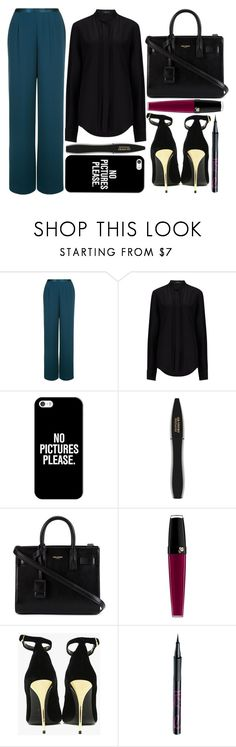 """""""street style"""" by sisaez ❤ liked on Polyvore featuring Jacques Vert, Joseph, Casetify, Lancôme, Yves Saint Laurent, Balmain and Barry M"""