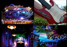 Rock 'n Roller Coaster - Starring Aerosmith - Disney's Hollywood Studios La montaña rusa musical, en donde acelera de 0 a 60 millas por hora en 2,8 segundos, y se mueve velozmente en la oscuridad total.