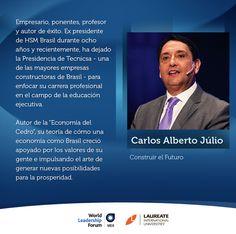 Professor/Palestrante Carlos Alberto Julio será un de los ponentes en el próximo World Leadership Forum, a realizarse este 24 y 25 de abril.