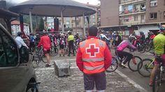 Voluntarios/as de Cruz Roja #Ondarroa cubriendo Marcha BTT en #Berriatua.