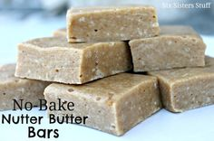 No-Bake Nutter Butter Bars - from Six Sisters' Stuff