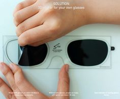 The Stix 3D peel off is a piece of plastic and fits right on your own glasses when you go to 3D movies. Designers Lucy Jung and Daejin Ahn created the concept because Lucy had to wear contacts when she when to 3D movies.