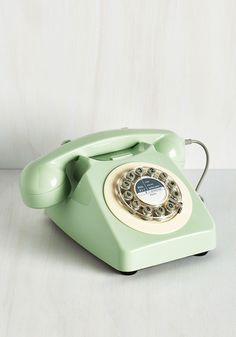 Ring True Desk Phone in Sea Green. Decorate your digs in sincere style with this fabulous revamp of a retro phone! #mint #wedding #modcloth