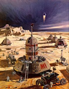 ... Mars colony- Robert McCall by x-ray delta one, via Flickr