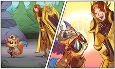 grafika leona, gnar, and league of legends