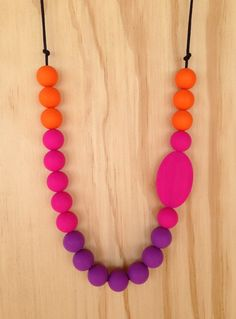 Pink, Orange and Purple Long Necklace, $25.00