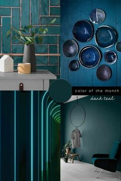 INTERIOR COLOR TREND 2020 Dark Teal in design Discover the latest interior color trend 2020 on italianbark: be inspired by dark teal color trend interiors and design Living Room Paint, My Living Room, Dark Interiors, Colorful Interiors, Color Trends, Design Trends, Navy Blue Bathroom Decor, Pantone, Interior Design Tips