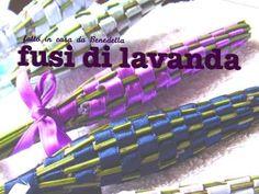 DIY spindle of lavender to perfume linen FUSI DI LAVANDA PROFUMA BIANCHERIA FATTI IN CASA DA BENEDETTA - YouTube