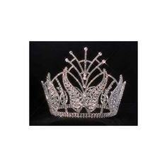 CrownDesigners.com - Crown Rhinestone Beauty Pageant full round Tiara... (1.520 DKK) ❤ liked on Polyvore featuring accessories, hair accessories, crown tiara, rhinestone hair accessories, crown hair accessories, tiara crown and rhinestone tiara