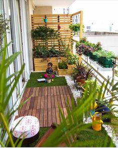 Definitely want more plants/potted garden on our next balcony