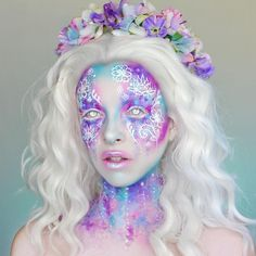 40 Attractive Fantasy Makeup Designs You Will Love - Abc party costumes - Makeup Fx, Cosplay Makeup, Costume Makeup, Beauty Makeup, Crazy Makeup, Makeup Looks, Make Up Designs, Fantasy Make Up, Fantasy Hair