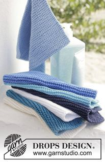 "Oc / DROPS - Free knitting patterns by DROPS Design Knitted DROPS potholders in garter st in ""Muskat"". Free patterns by DROPS Design. Always aspired to be able to. Knitting Patterns Free, Free Knitting, Baby Knitting, Free Pattern, Crochet Patterns, Drops Design, Knitted Washcloths, Knit Dishcloth, Diy Knitting Projects"