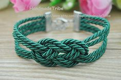 Sailor Knot Bracelet Infinity Knot Bracelet Green by HandmadeTribe, $2.99 Lovely handmade bracelets