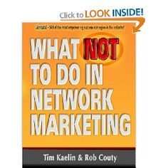 If you are looking for a great plain down to earth book on MLM, Network Marketing. This is the book for you, and full of great insight on the business.