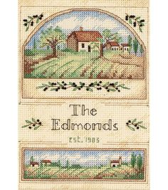 Dimensions Tuscan Greeting Mini Counted Cross Stitch Kit
