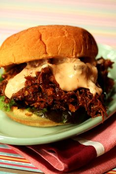 My husband says that pork is the food of the gods and I think most men would agree!  Last time I made pulled pork for my neighbor Claudio's birthday party, we saw 30 pounds of pulled pork vanish in just under 2 hours.  Watch your fingers ladies when you set this out for your next party. #skinnychef