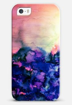 INTO ETERNITY in PINK AND INDIGO BLUE - Colorful Feminine Pretty Abstract Watercolor Floral Field Nature Flowers Girlie Sweet Painting iPhone 6 case by Ebi Emporium | Casetify  | Get $10 off your order with code 6YJ8ZD