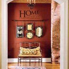 Home is Where Our Story Begins wall decal vinyl lettering home decor sticker
