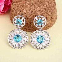 Factory Direct Sale Fashion Stud Cheap Wholesale Zircon Earrings