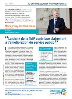 La Mairie d'Issy-les-Moulineaux a choisi Bouygues Telecom Entreprises