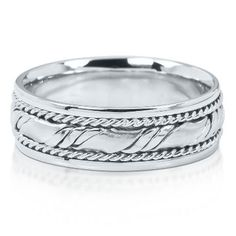 Men's Wedding Ring in 14K Gold, 7mm available at #HelzbergDiamonds