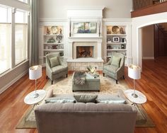 Traditional Living Room Fireplace Mantel Design, Pictures, Remodel, Decor and Ideas - page 2
