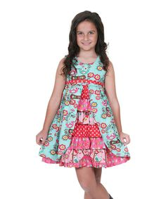 Look at this Hot Pink & Teal Love Birds Hannah Dress - Infant, Toddler & Girls on #zulily today!