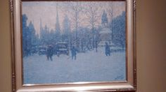 Edward Timothy Hurley 1869-1950 Garfield Park 1917 Winter in Cincinnati