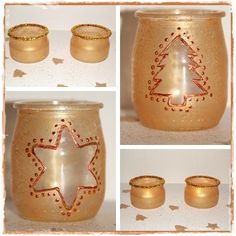 DIY: make bling-bling photophores for Christmas - The little decorations of Lolo - noel 2017 - Jar Crafts, Diy And Crafts, Kids Christmas, Christmas Crafts, Baby Jars, Christmas Candle Holders, Diy Weihnachten, Diy Projects To Try, Xmas Decorations