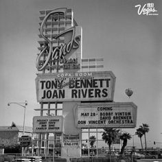 The Sands Las #Vegas marquee featuring Tony Bennett and Joan Rivers