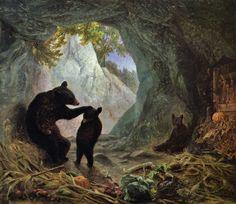 Bear and Cubs - William Holbrook Beard (1864)