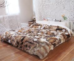 Throws made from fur coats