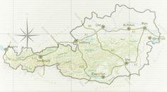 Wasserfallwanderungen - Österreichs Wanderdörfer Berg, Places To Go, Diagram, Map, World, Andreas, Vienna, Travel, Corona