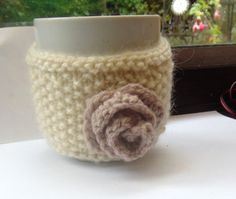 Coffee Mug Cosy by LittleDaisyKnits on Etsy