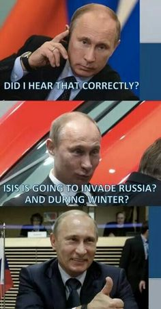 One does not simply invade Russia during the winter... That is history 101
