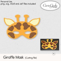 Giraffe Mask (Cutting Files) #theStudio #CarinGrobeDesign