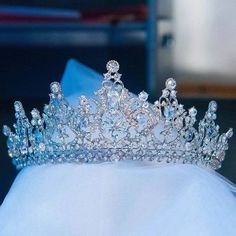 Crown Aesthetic, Bride Tiara, Silver Tiara, Crystal Crown, Tiaras And Crowns, Hair Jewelry, Jewellery, Hair Accessories For Women, Wedding