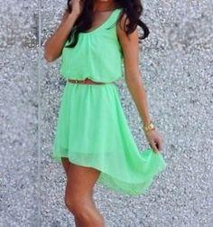 robe d'été verte