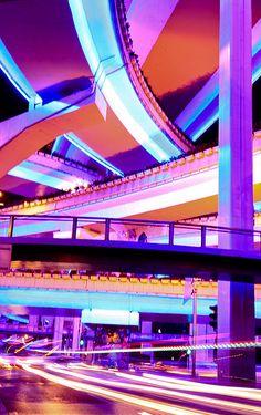 I always loved Shanghai expressways at night.