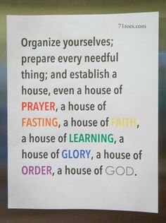 Excellent family night ideas using this scripture. (which she sites wrong, its D 109:8)