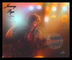 Jimmy Page of Led Zeppelin; Jimmy in a dream mist; Photoartist LisaKay Allen/PassionFeast
