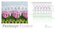 Lanas de Ana: Fantasy Blanket: The Flowers (II)