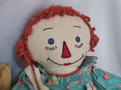Raggedy Ann Doll Cloth c.1940's