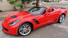 Chevrolet : Corvette Z06 Convertible 2-Door Bright red 2015 Corvette Z06 convertible 2LZ, 593 miles, NO TAX! 3 wks old Z-06