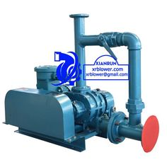 Xianrun Blower Roots Blower for Waste Water Treatment, www.lxrfan.com, xrblower@gmail.com   Roots blower is a kind positive displacement blower. Principle is two leaf shape rotors making relative motion inside air cylinder to compress and transport air, it can also be called rotary compressor.