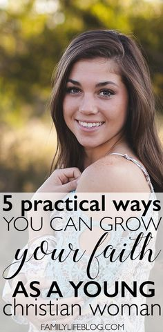 Sometimes, it can be really hard to grow your faith in Christ as a young woman. Life gets in the way, obstacles show up, and your faith gets shaken. Here are 5 practical ways you can grow your faith and relationship with the Lord as a young Christian woma Christian Post, Christian Women, Christian Living, Christian Faith, Christian Love Quotes, Christian College, New Quotes, Faith Quotes, Funny Quotes
