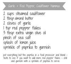 Cauliflower Hummus – Yummy Paleo Snack