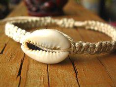 hemp cowrie shell jewelry
