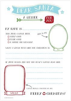 Christmas Freebies | 6 Printable Letters to Santa