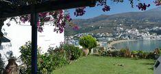 Relax at Skrekos Villa, in the Batsi of Andros Island Greece.